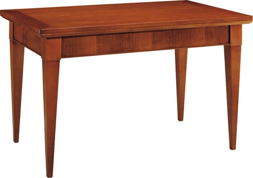 Extending rectangular cherry wood table BIEDERMEIER | Extending table by Morelato