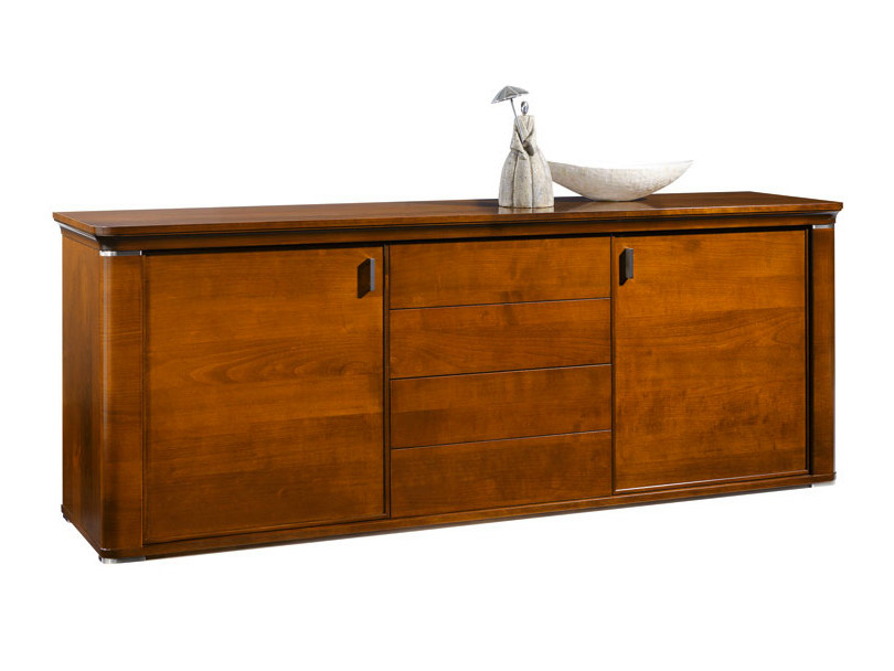 Wooden sideboard with doors with drawers MARILYN | Sideboard with doors - SELVA