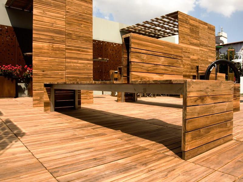 Galix lade e arredo per esterni panca da giardino modulare for Arredo per esterni