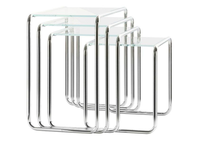 Stackable glass coffee table B9 | Glass coffee table - THONET