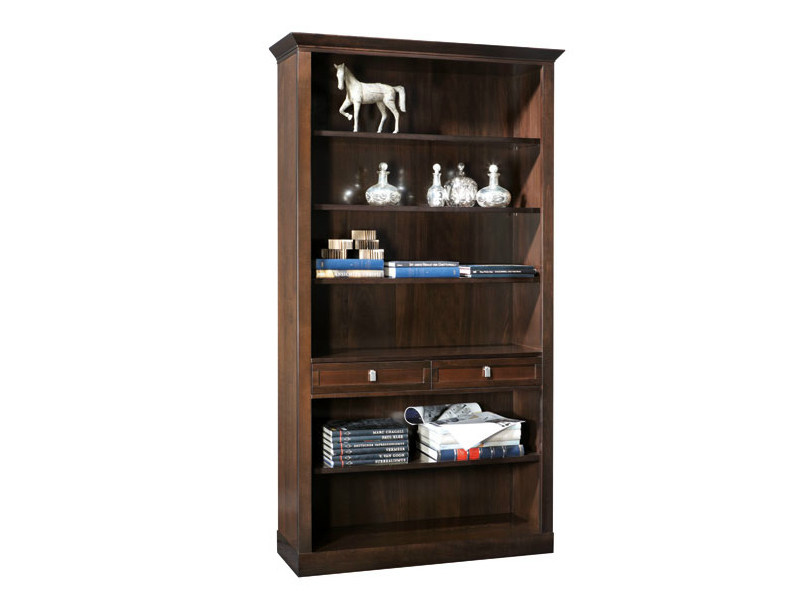 Open wooden bookcase with drawers SOPHIA | Bookcase - SELVA
