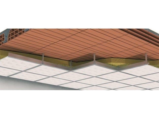 Thermal insulation panel in mineral fibre MAXI SISTEMA - SOFFITTI TERMOISOLANTI - Knauf Italia
