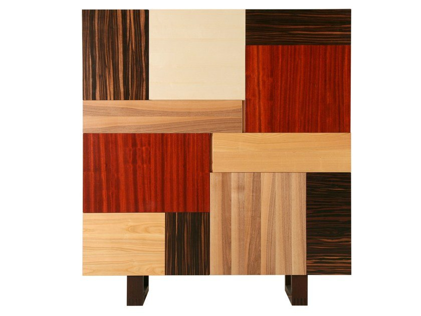 Wenge highboard with doors LOCANDIERA | Highboard by Morelato