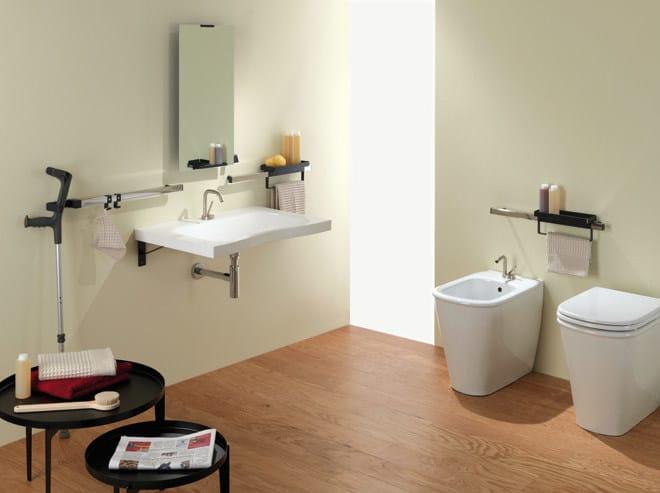 Lavabo a consolle con porta asciugamani flat lavabo con - Ponte giulio bagno disabili ...