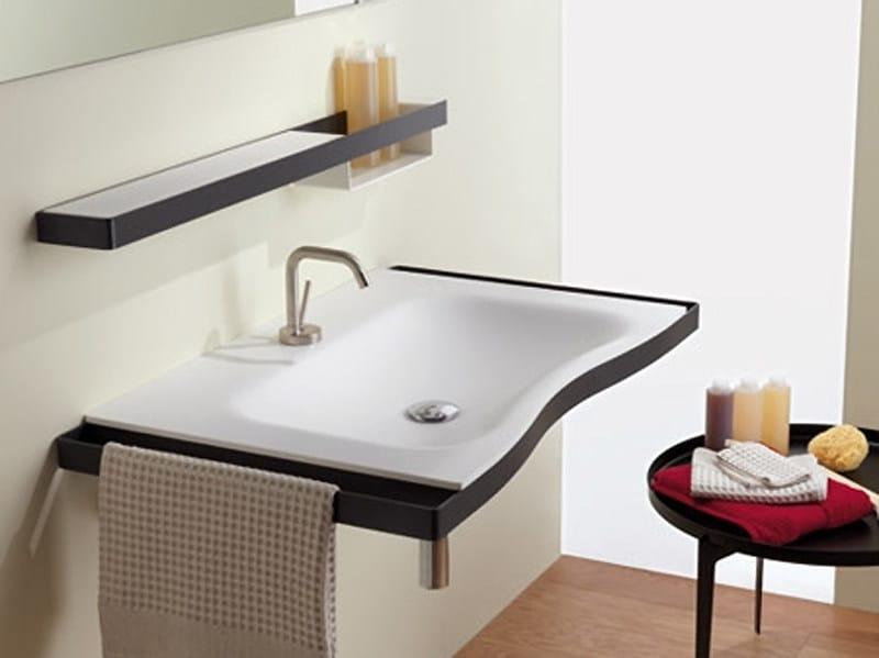 Lavabo a consolle con porta asciugamani flat lavabo con porta asciugamani ponte giulio - Porta asciugamani per bagno ...