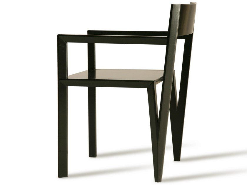 Cherry wood chair with armrests SERVETTA | Chair - Morelato