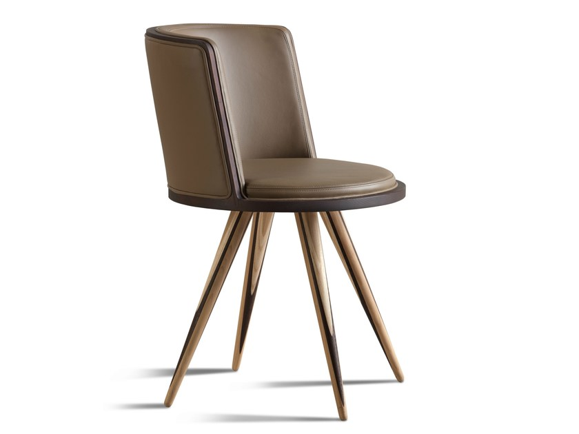Upholstered leather chair CARAMBOLA | Chair - Morelato