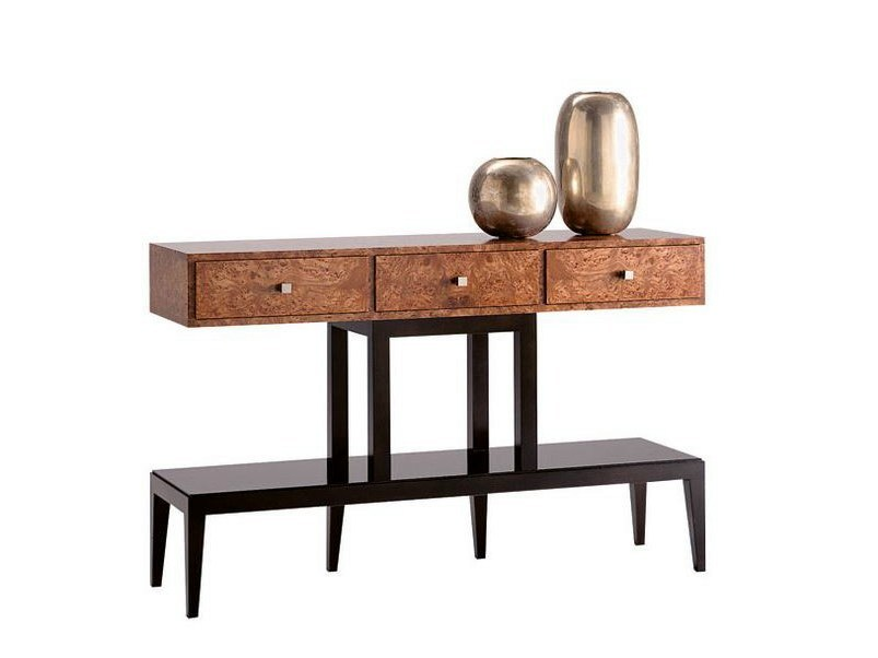 Rectangular wooden console table with drawers SPIDER - SELVA