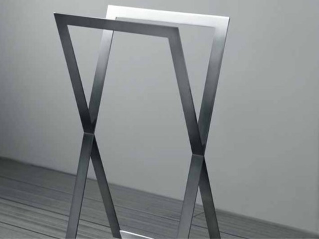 Brushed steel towel rack TOWEL - RIFRA