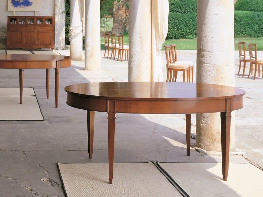 Extending oval cherry wood table DIRETTORIO | Extending table - Morelato