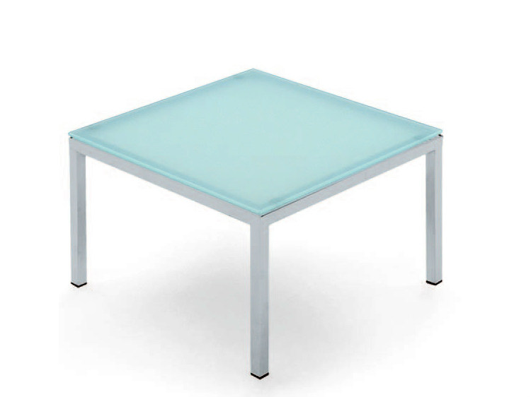 Low square coffee table POLO | Glass coffee table - LAMM