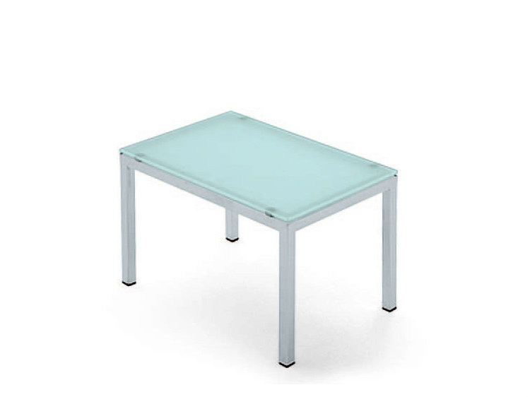 Rectangular glass coffee table POLO | Low coffee table by lamm