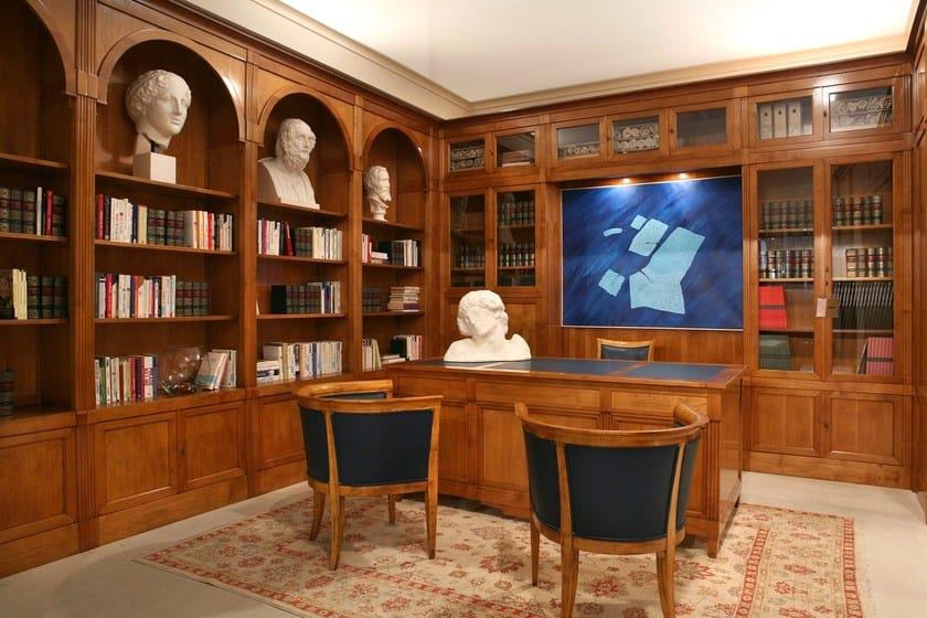 Libreria componibile modulare in ciliegio direttorio for Libreria modulare