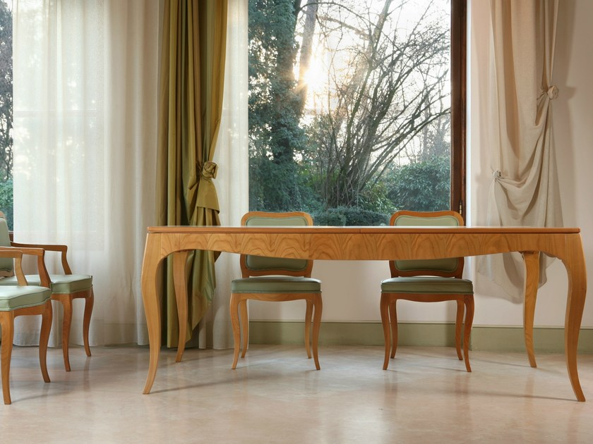 Extending rectangular wooden table LUIGI XV | Rectangular table - Morelato