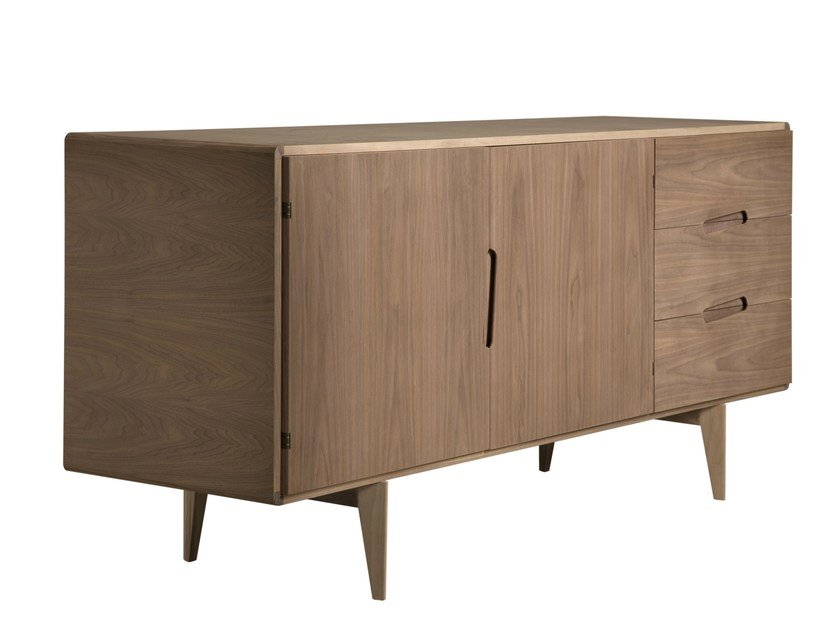Walnut sideboard with drawers MALIBÙ | Sideboard with drawers - Morelato