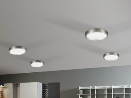 LED etched glass ceiling light AREO FLAT 350 | Ceiling light - Lombardo