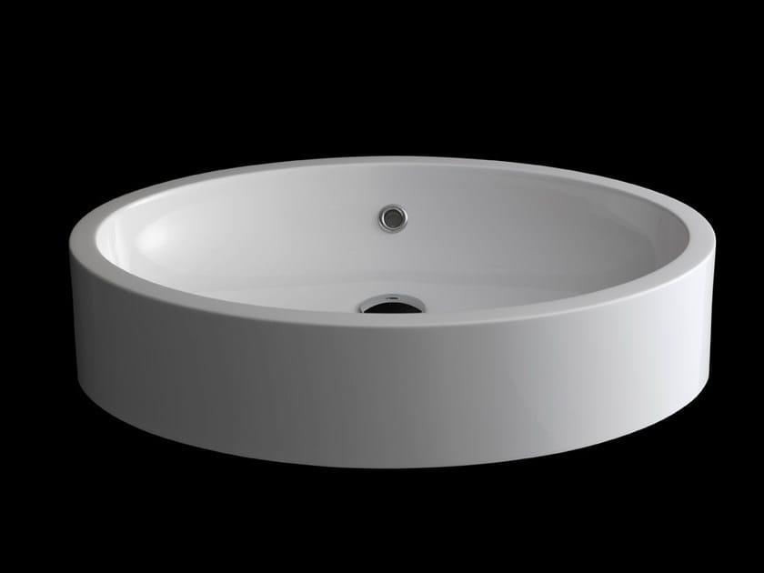Semi-inset washbasin OVALE - RIFRA
