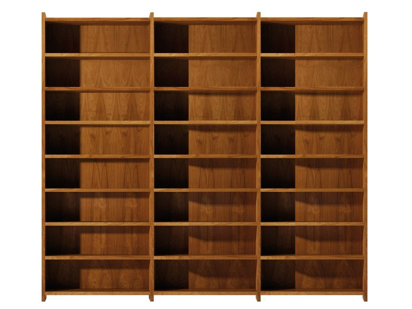 Open sectional cherry wood bookcase MASCHERA | Sectional bookcase - Morelato