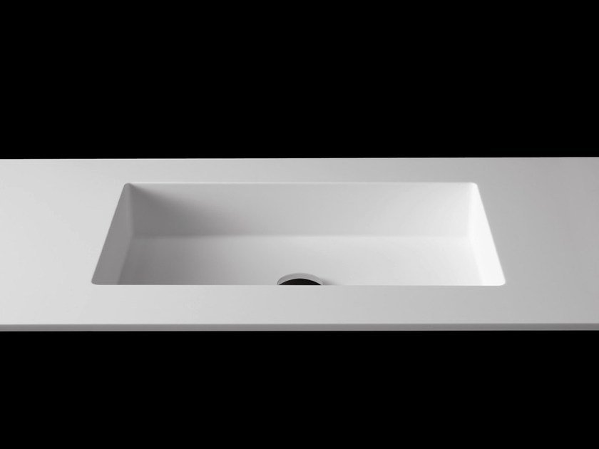 Rectangular washbasin with integrated countertop PLANO WB8 - RIFRA