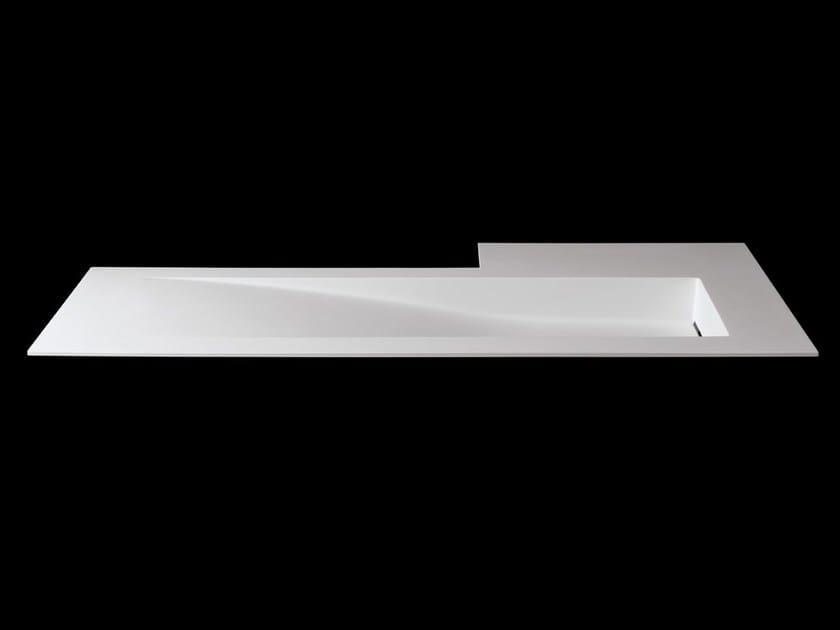 Rectangular washbasin with integrated countertop MODUS   Washbasin - RIFRA