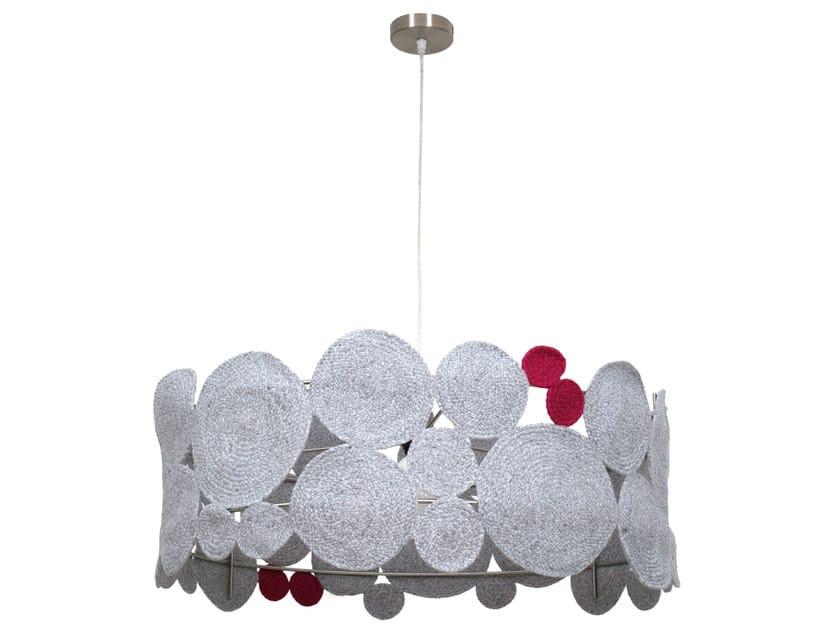 Technical fabric pendant lamp WATERLILY | Pendant lamp - Darono