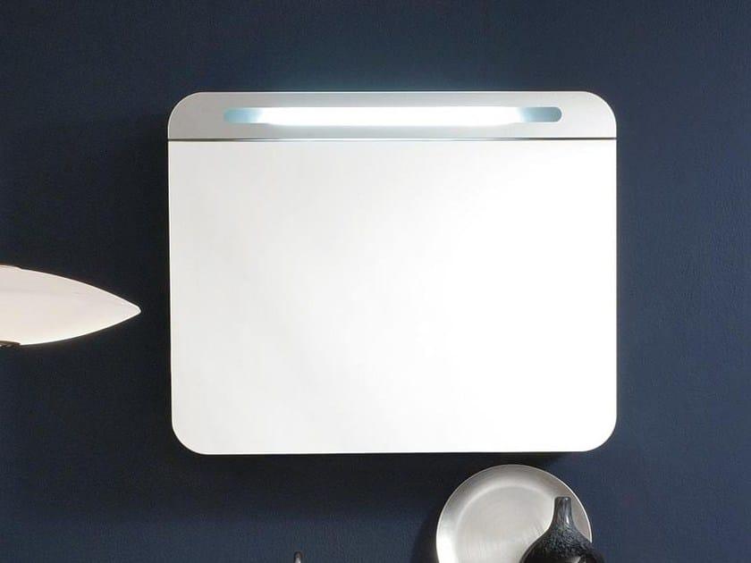 miroir pour salle de bain rectangulaire design avec rangement lumineux ego collection compos by. Black Bedroom Furniture Sets. Home Design Ideas