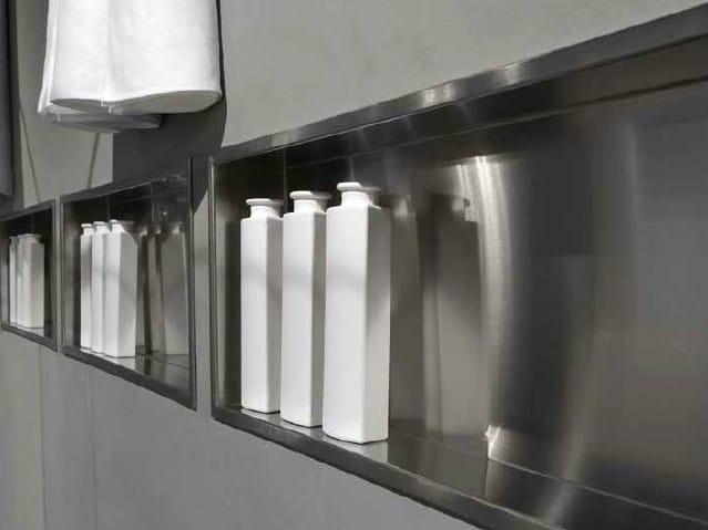 Mensola bagno in acciaio inox collezione clean by rifra - Mensola acciaio bagno ...