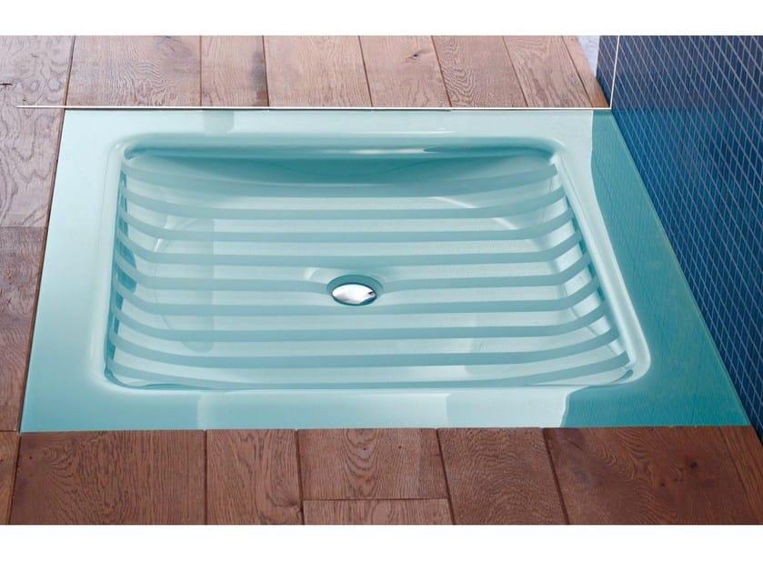 Crystal shower tray COMPOS   Flush fitting shower tray by LASA IDEA