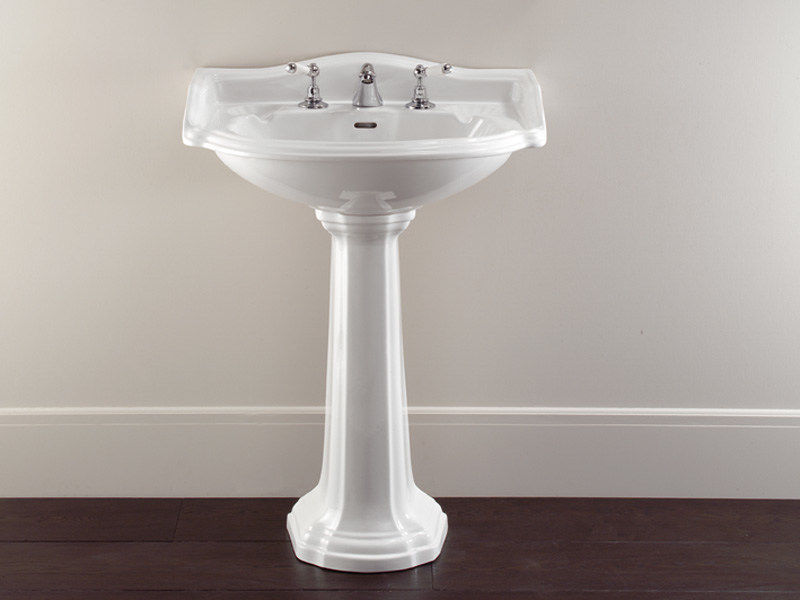 Pedestal Ceramic materials washbasin OXFORD | Pedestal washbasin - Devon&Devon