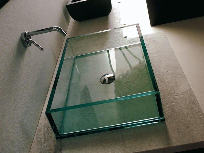 Countertop rectangular glass washbasin COMPOS | Rectangular washbasin - LASA IDEA