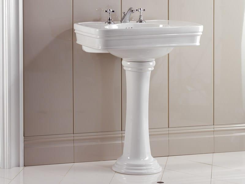 Pedestal ceramic washbasin ROSE | Washbasin - Devon&Devon