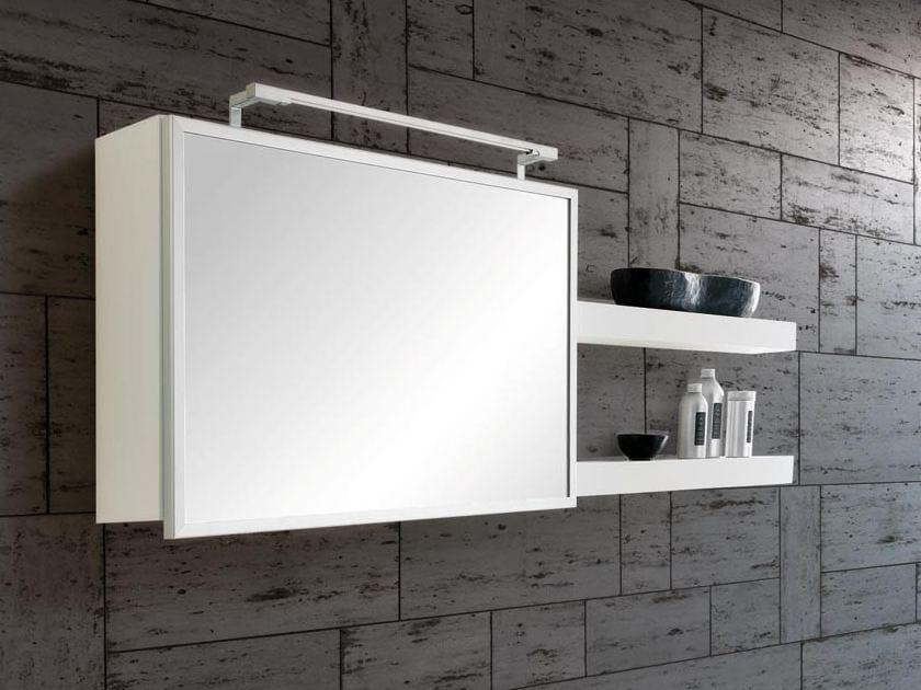 Wooden wall cabinet with mirror MARIPOSA 21 | Wall cabinet - LASA IDEA