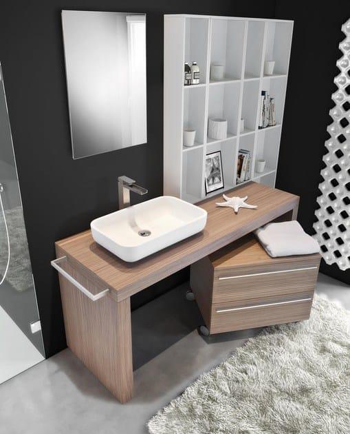 Mobile bagno basso con cassetti con ruote mariposa 48 - Mobile basso bagno ...