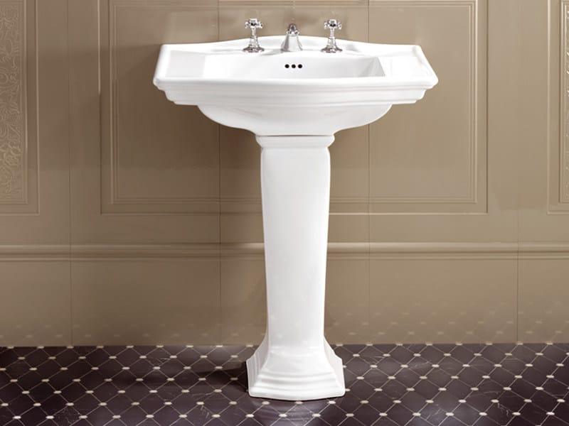 Pedestal ceramic washbasin WESTMINSTER   Washbasin - Devon&Devon