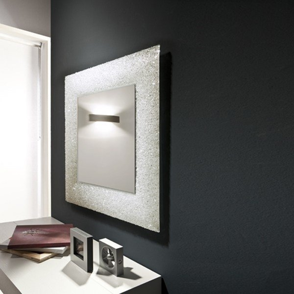 miroir mural de style contemporain avec cadre pour hall d 39 entr e ice by riflessi design riflessi. Black Bedroom Furniture Sets. Home Design Ideas