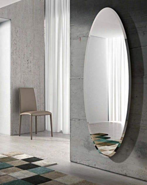Oval wall-mounted mirror IONICO - RIFLESSI