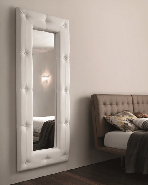 Wall-mounted framed mirror SOFT - RIFLESSI