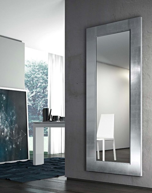 Wall-mounted framed mirror URANIA by RIFLESSI