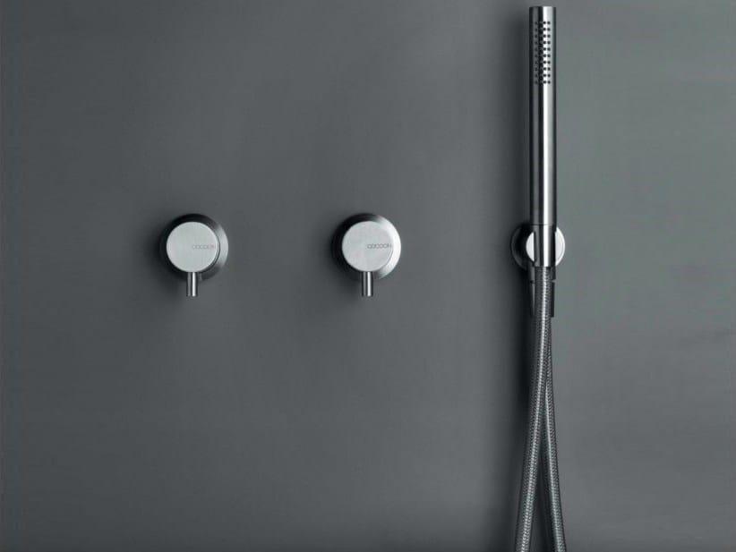 3 loch dusche bad mischbatterie aus edelstahl mit brausekopf cocoon mono set 10 by cocoon design. Black Bedroom Furniture Sets. Home Design Ideas