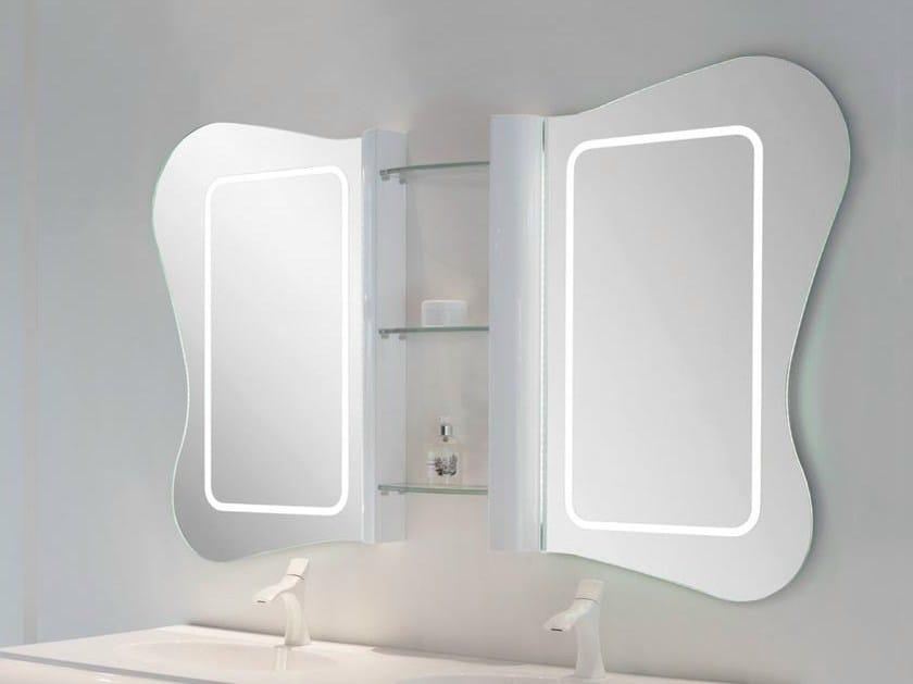 Specchio bagno gau 140 by lasa idea design enio calosi for Specchio bagno 3d
