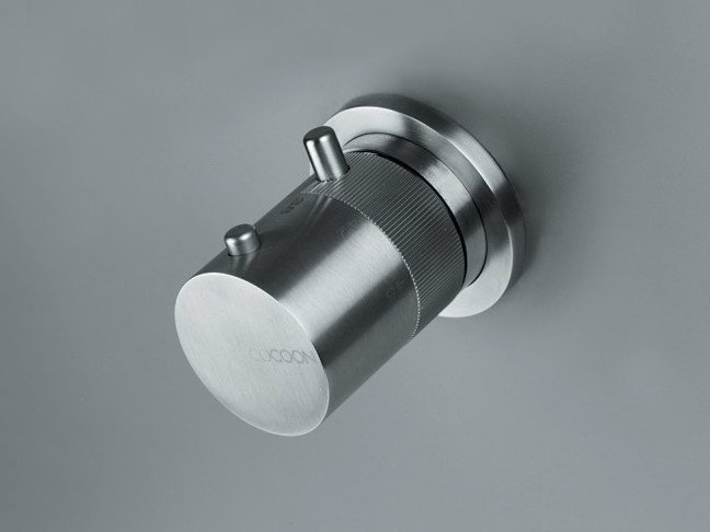 Stainless steel thermostatic shower/bath mixer COCOON MONO 01THERM - COCOON