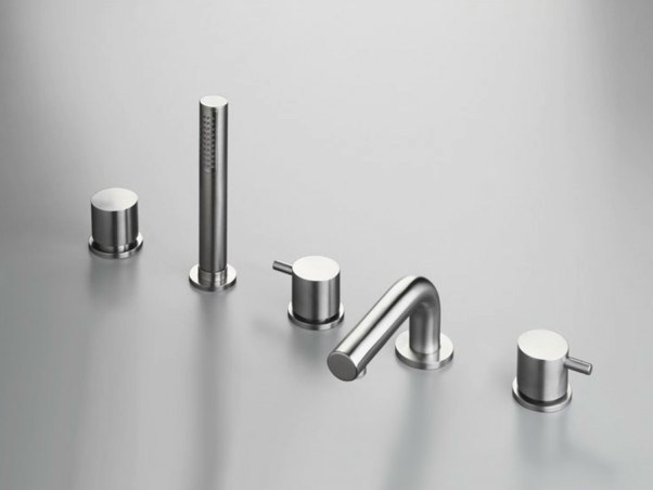 5 hole stainless steel bathtub set with hand shower COCOON MONO SET44 - COCOON