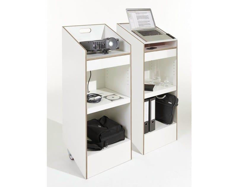 Plywood office shelving / computer cabinet RACKnROLL - Müller Möbelwerkstätten