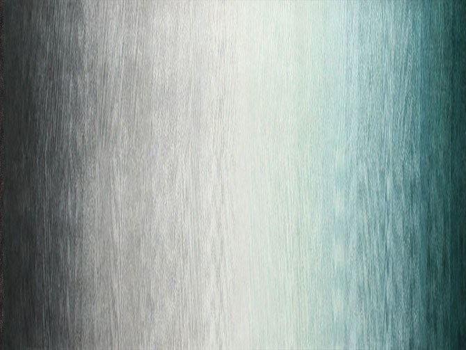 Contemporary style custom handmade rectangular rug RAINBOW BLACK GREEN by EDITION BOUGAINVILLE
