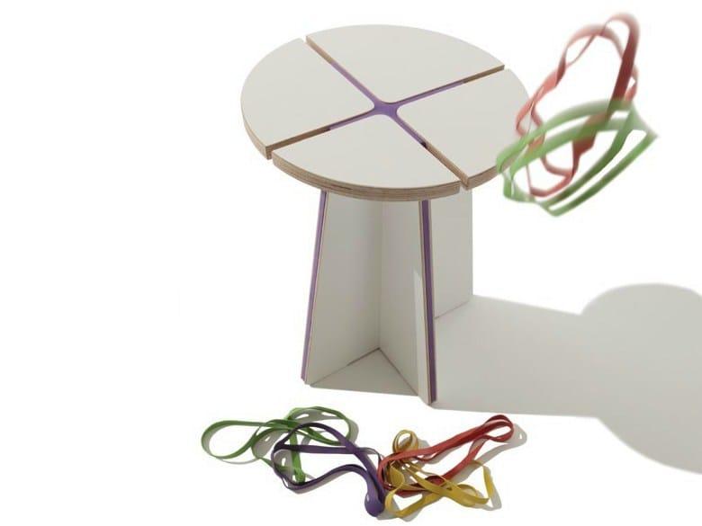 Wooden stool STOOLX - Müller Möbelwerkstätten