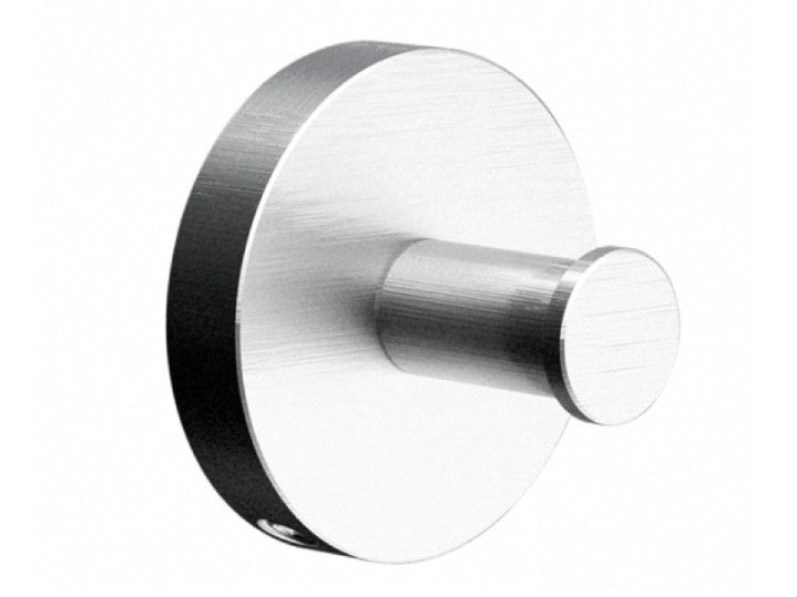 Stainless steel robe hook COCOON MONO 63 by COCOON