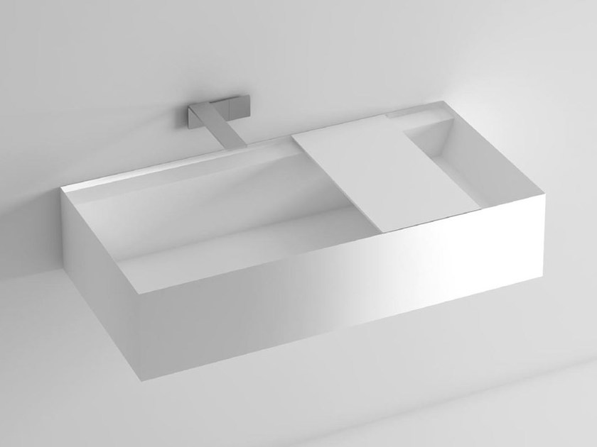 Rectangular wall-mounted washbasin SYN | Wall-mounted washbasin - LASA IDEA