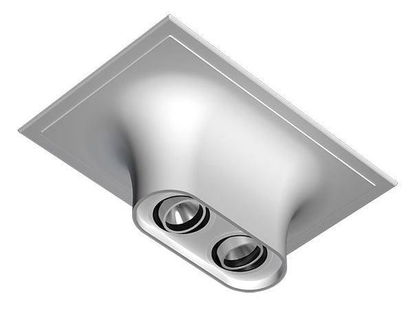 Multiple ceiling aluminium spotlight USO BOOB 600 2L - FLOS
