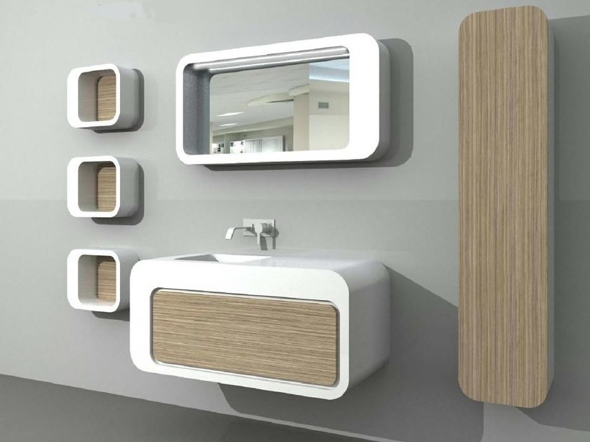 Vanity unit UnopuntoZero COMP 7 - LASA IDEA