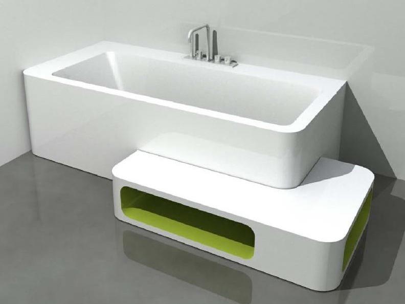 Corner rectangular bathtub UNOPUNTOZERO | Corner bathtub - LASA IDEA